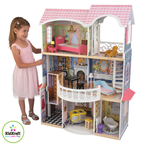 KidKraft Magnolia Mansion Dollhouse with Furniture