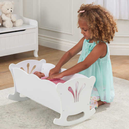 KidKraft Kids' White Lil' Doll Cradle