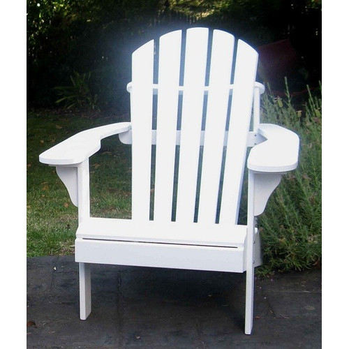 White Hardwood Adirondack Chair Temple Amp Webster