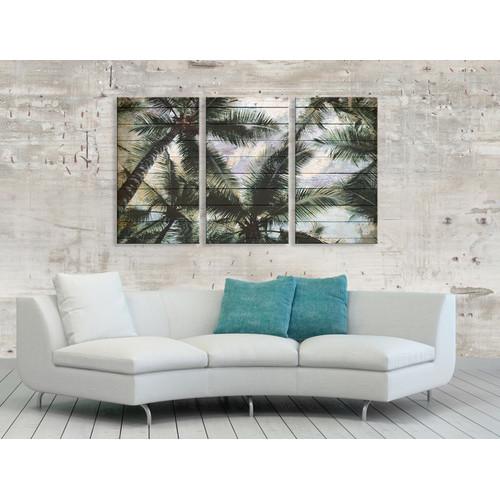 A La Mode Studio Shaded Palms Triptych