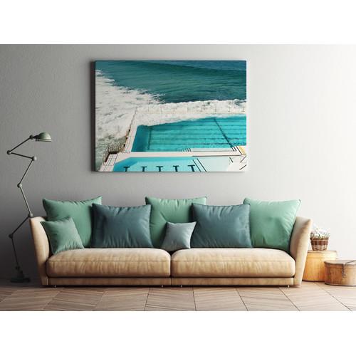A La Mode Studio Cool & Inviting Ocean Pool Canvas Wall Art