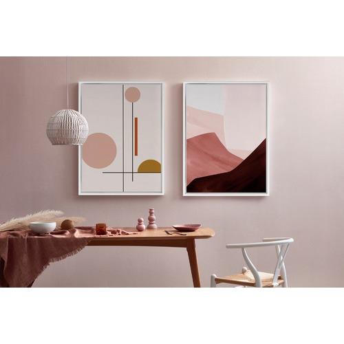 A La Mode Studio Maroon Mood Canvas Wall Art