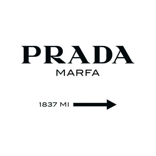 A La Mode Studio Prada Marfa Canvas Wall Art