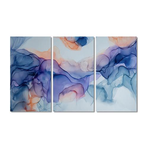 A La Mode Studio Influx Stretched Canvas Wall Art Triptych