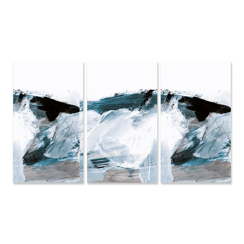 A La Mode Studio Oceans Stretched Canvas Wall Art Triptych
