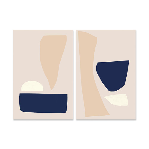 A La Mode Studio 2 Piece Minimal Canvas Wall Art Set