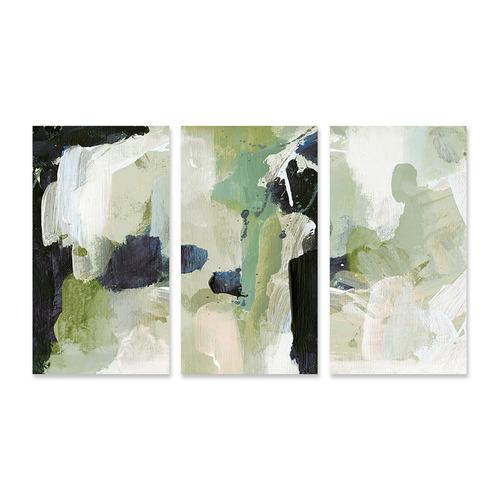 A La Mode Studio Lush Stretched Canvas Wall Art Triptych