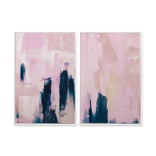 A La Mode Studio 2 Piece Pink Canvas Wall Art Set