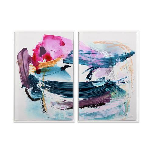 A La Mode Studio 2 Piece Colour Canvas Wall Art Set