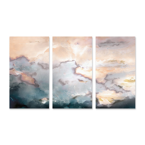 A La Mode Studio Above Stretched Canvas Wall Art Triptych