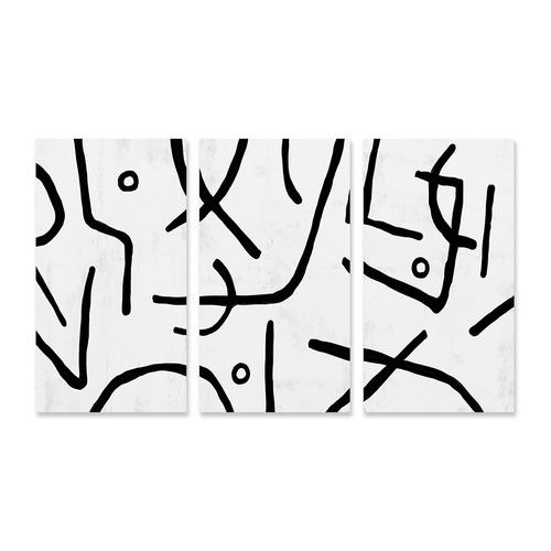 A La Mode Studio Stark Stretched Canvas Wall Art Triptych