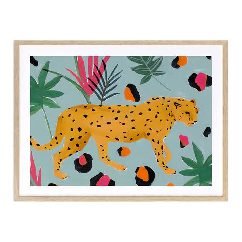 A La Mode Studio Walking Cheetah Printed Wall Art