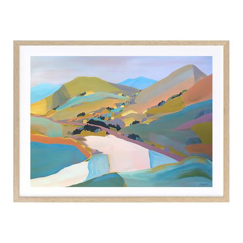 A La Mode Studio Rainbow Valley Printed Wall Art