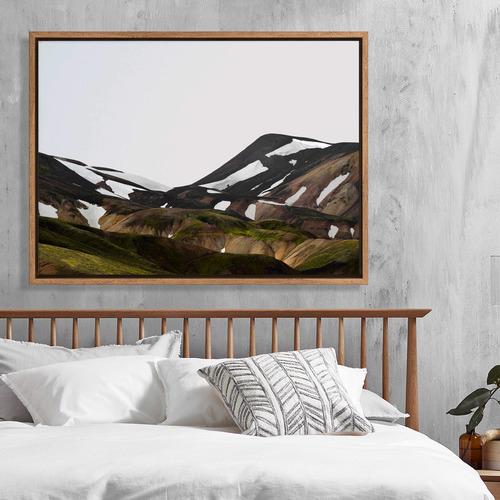 Icelandic Hills Canvas Wall Art