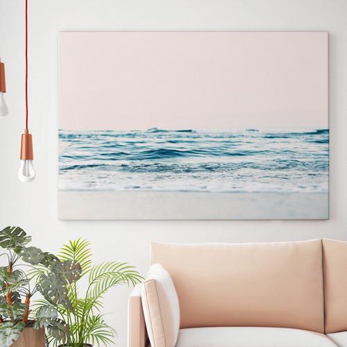 Gazing Over The Ocean Edge Canvas Wall Art