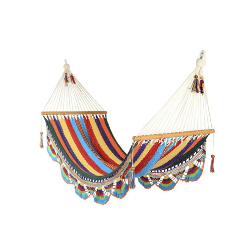 The Toucan Shop Small Crocheted Trim Hammock