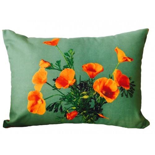 Vintage Beach Shack Poppies Cushion