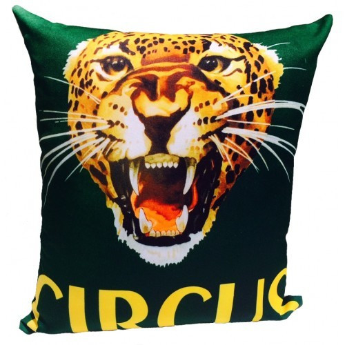 Vintage Beach Shack Circus Roar Cushion