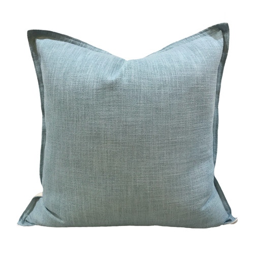 Vintage Beach Shack Mauritius Aqua Cushion