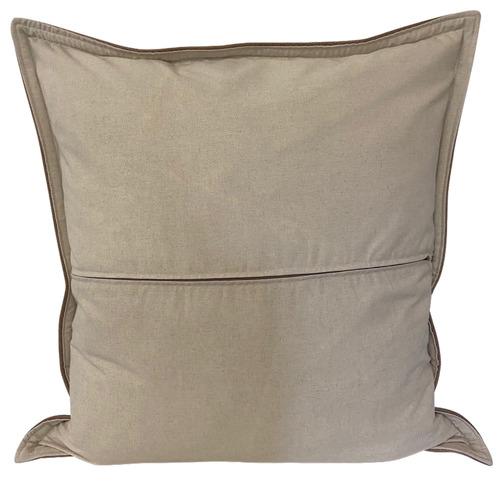 Vintage Beach Shack Tan Vegan Leather Cushion