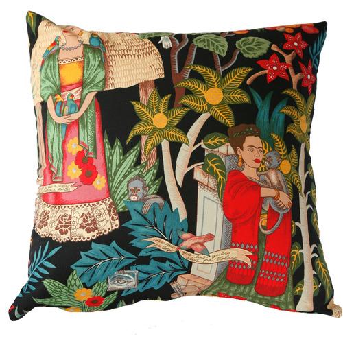 Black Fridasgarden Cotton Cushion