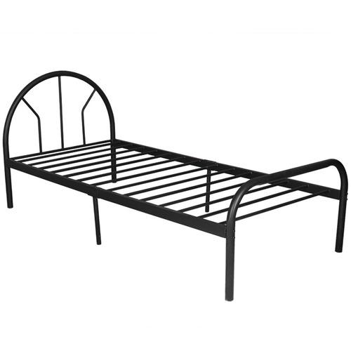 Black Luna Single Bed Frame Temple Webster