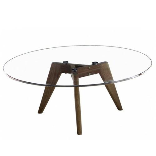Mikasa Furniture Amelia Glass-Top Coffee Table