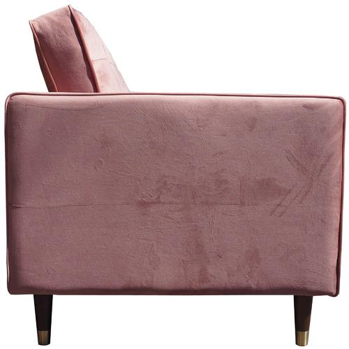 Pink Cherry Velvet Armchair