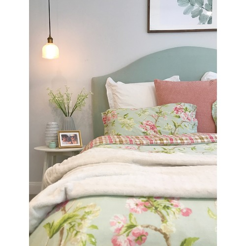 By Designs Chambray Upholstered Bedhead