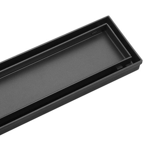 Dwell Black Cefito Tile Insert Shower Grate