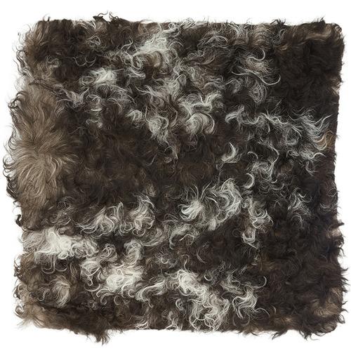 NSW Leather Brown & White Jacob Sheepskin Cushion