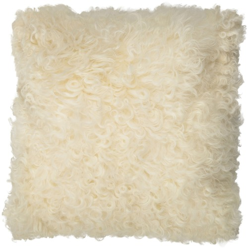 NSW Leather White Jacob Sheepskin Cushion
