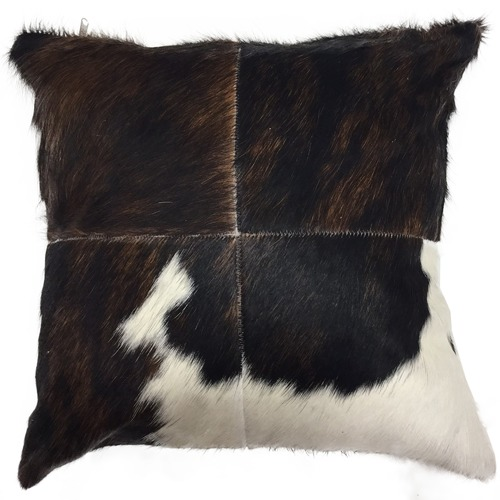 NSW Leather Patchwork Cow Hide Cushion