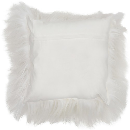 NSW Leather Long Hair Himalayan Goatskin Cushion