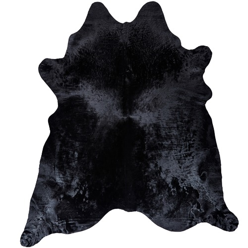 NSW Leather Black Luxury Cow Hide Rug