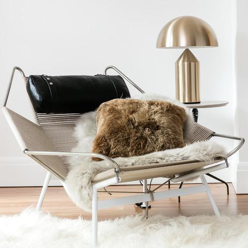 NSW Leather Shorn Icelandic Sheepskin Cushion