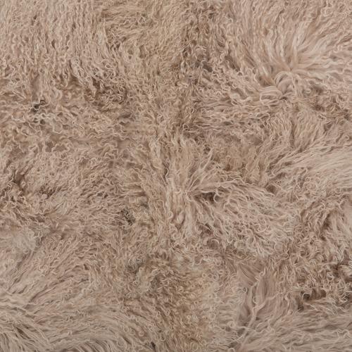 NSW Leather Mongolian Sheepskin Throw