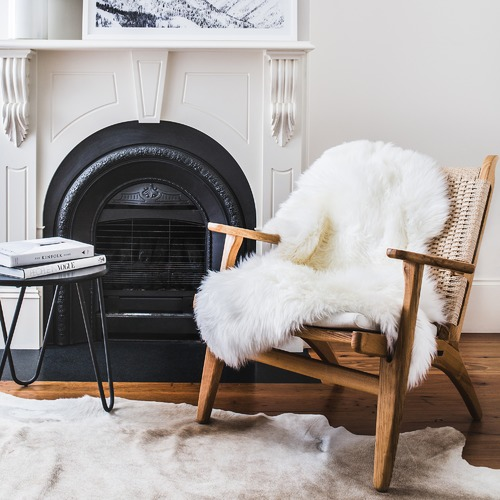NSW Leather Merino Sheepskin Rug