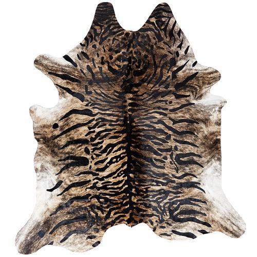 Tiger Print Cow Hide Rug