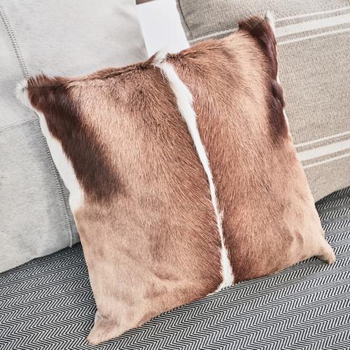 NSW Leather Genuine Springbok Cushion