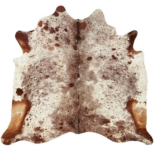 Spotted Brown Longhorn Cow Hide Rug