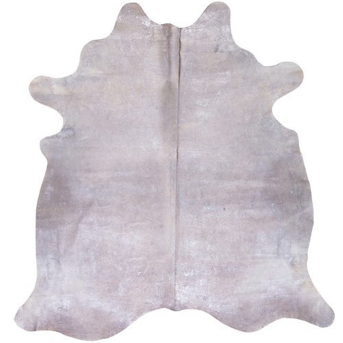 NSW Leather Silver & Cream Star Cow Hide Rug