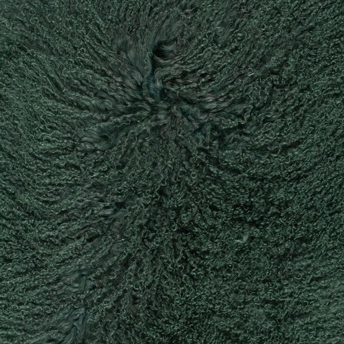 NSW Leather Emerald Green Mongolian Sheepskin Rug