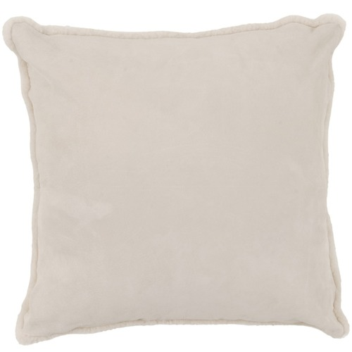 NSW Leather Cream Suede Cushion
