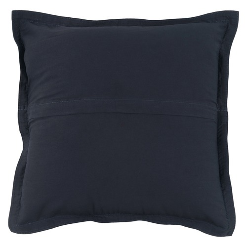 NSW Leather Blue-Black Nappa Patchwork Leather Cushion