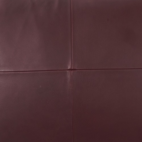 NSW Leather Wine Nappa Rectangular Patchwork Leather Cushion