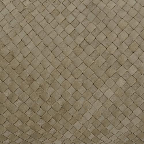 Bottega Weave Rectangular Leather Cushion