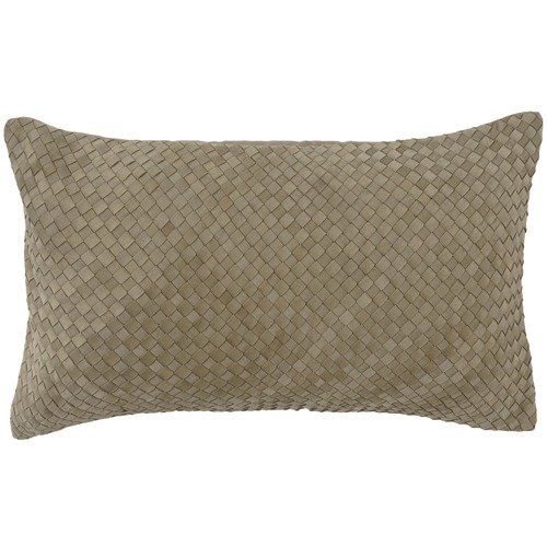 NSW Leather Bottega Weave Rectangular Leather Cushion