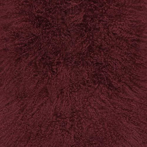 NSW Leather Mongolian Sheepskin Cushion
