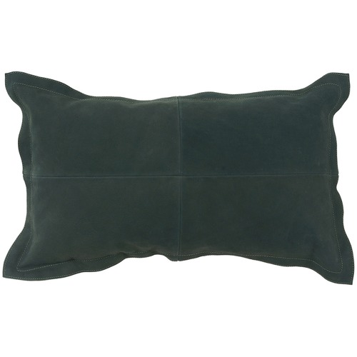 Forest Green Nappa Patchwork Leather Cushion